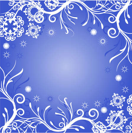 abstract winter card with place for your text Stock Vector - 7454066