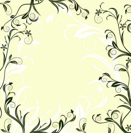 tatty: Grunge floral frame with space for text
