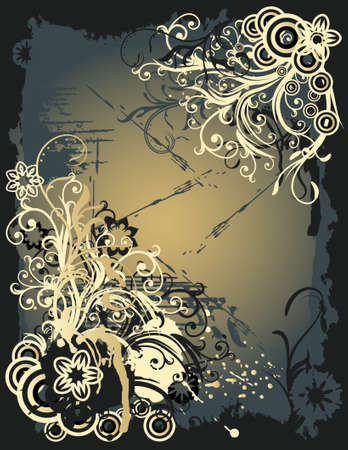 abstract floral background with place for your text  Illustration