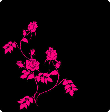 abstract floral background with place for your text Stock Vector - 7454069
