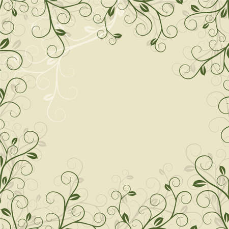 Grunge floral frame with space for text