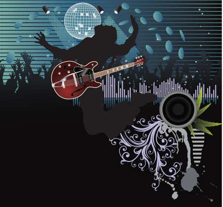 Poster,rock festival band.Easy to editmove Illustration