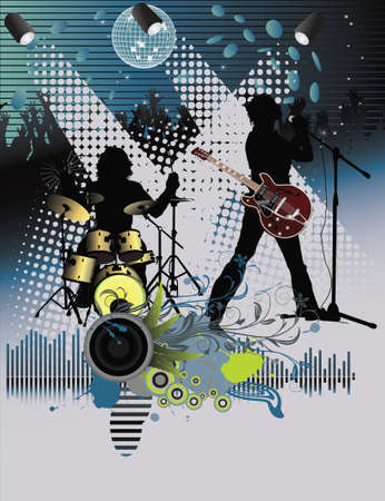 Poster,rock festival band.Easy to edit/move. Stock Vector - 7454333