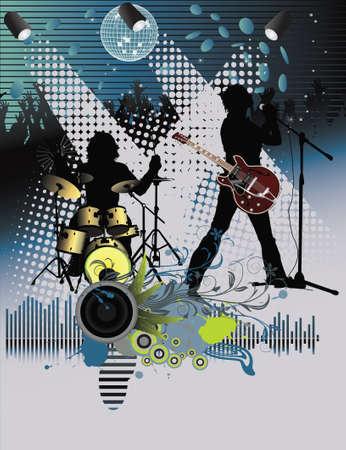 Poster, rock festival band.Gemakkelijk te bewerkenverplaatsen.
