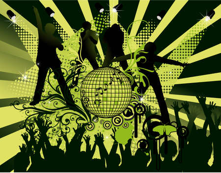 abstract dance party poster
