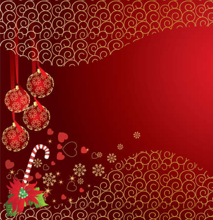 abstract christmas background Stock Vector - 7454292