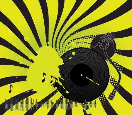 DJ turntable Stock Vector - 7462528