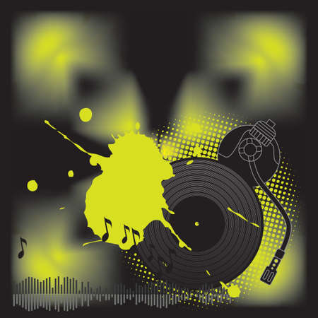 DJ turntable  Vector