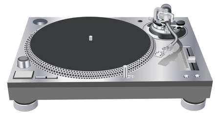 DJ turntable Stock Illustratie