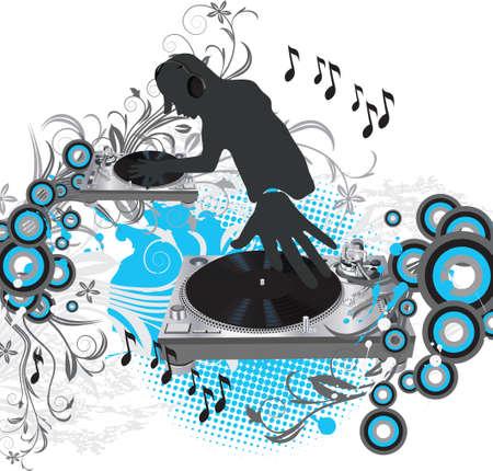 music listening: Music poster.DJ