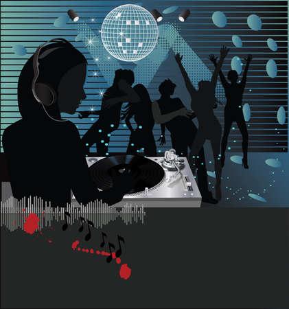 Muziek poster.DJ  Stockfoto - 7462550