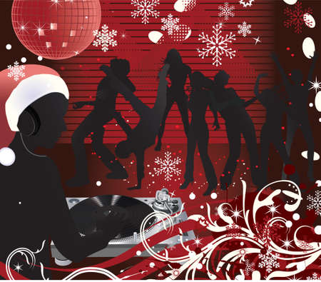 Abstract  Christmas Concert poster.Music poster.DJ