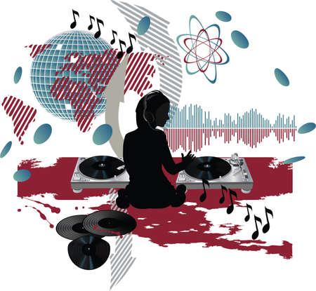 Muziek poster.DJ