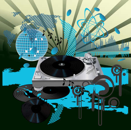 Music poster . DJ