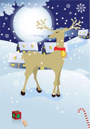 Kerst stad  Stockfoto - 7462549