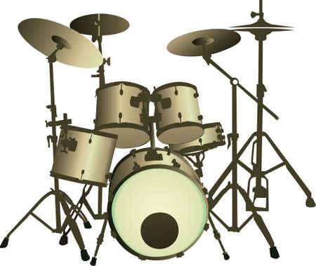 drum set Stock Vector - 7453991
