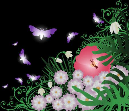 Floral achtergrond met plaats voor uw tekst