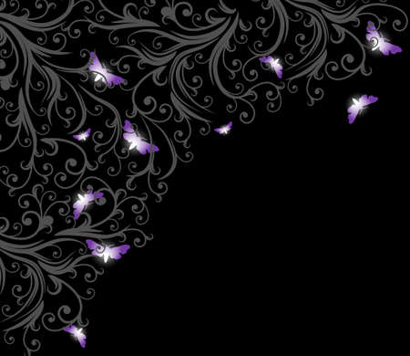 abstract floral frame with space for text