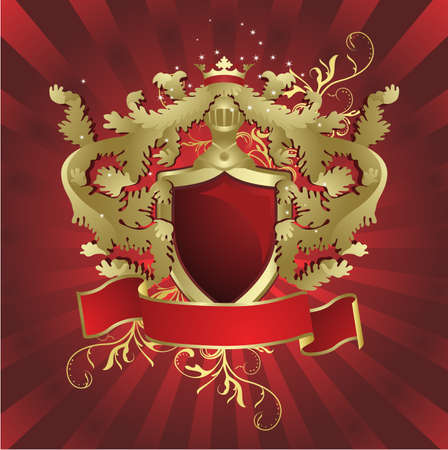 Heraldic shield Illustration