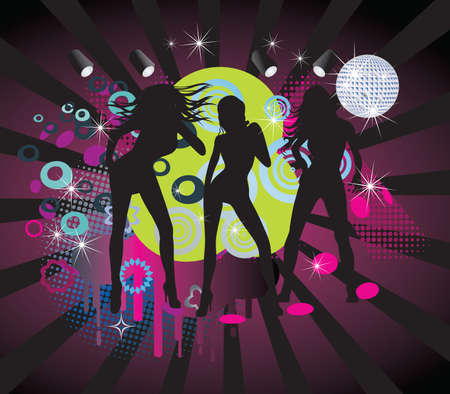 Girls singing,poster Vector