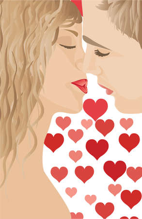 Couple in love Stock Vector - 7462516