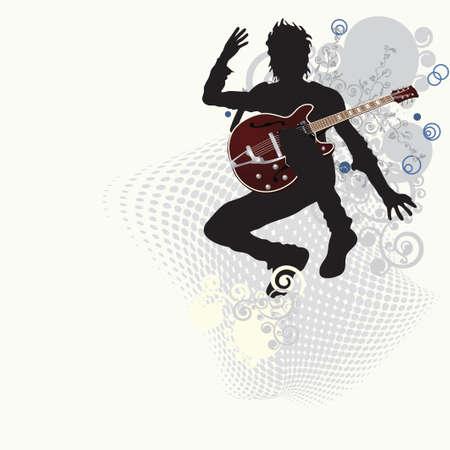 Muziek poster: gitarist.