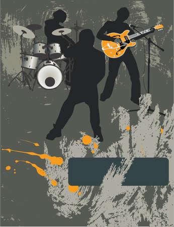 Poster, rock festival band.Easy te bewerkenverplaatsen.