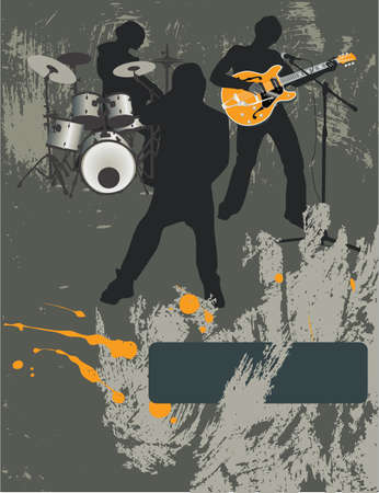 lead guitar: Poster,rock festival band.Easy to editmove.