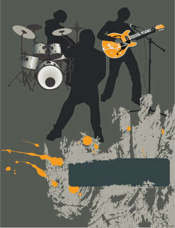 Poster,rock festival band.Easy to editmove. Vector