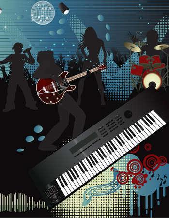 acustica: Musica poster  Vettoriali