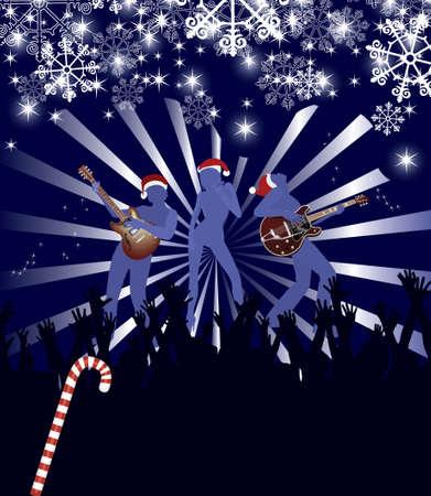 celebrities: Abstract Kerst concert poster