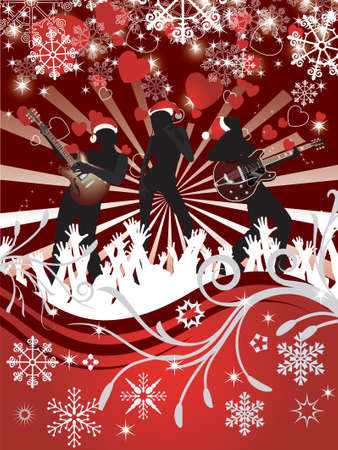 Abstract Christmas Concert poster Stock Vector - 7454362