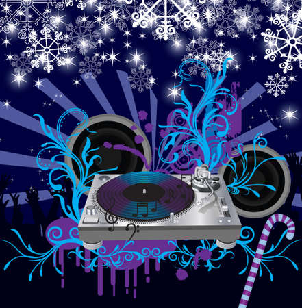 Abstract   Christmas Concert poster Stock Vector - 7454368