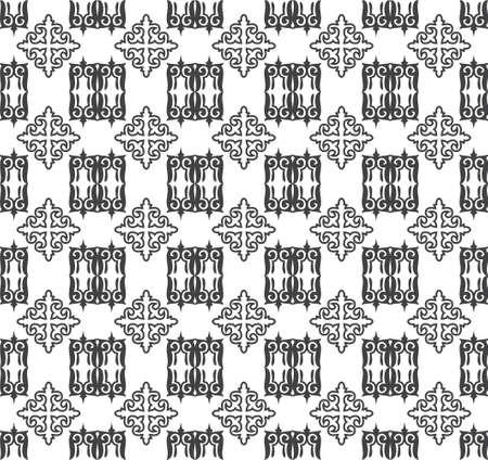 kazakhstan: Seamless embroidery. illustration.
