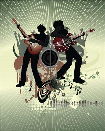 resonancia: Cartel del concierto  Vectores