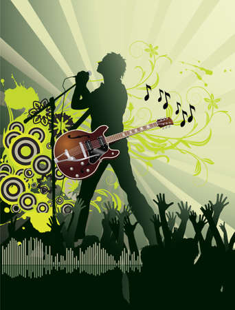 Music poster Stock Vector - 7454232