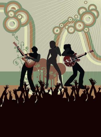 Concert poster  Stock Illustratie
