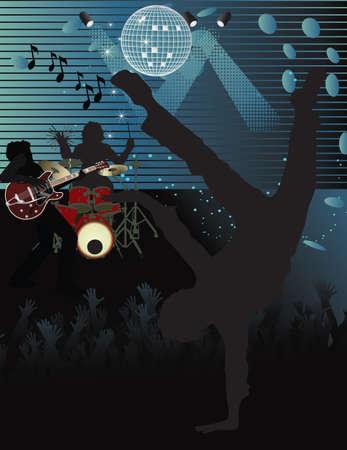 Music poster: dancing club