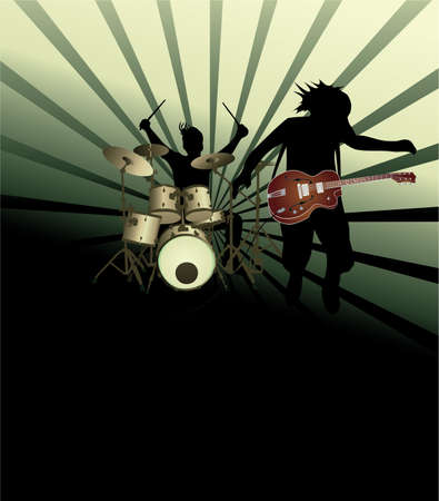 Poster,rock festival band.Easy to edit/move.  Stock Illustratie