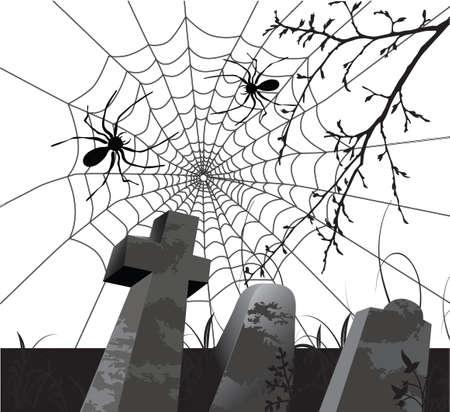 Scary halloween achtergrond Stock Illustratie