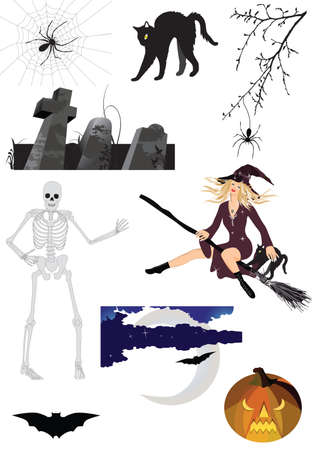 Scary halloween set Stock Vector - 7463943
