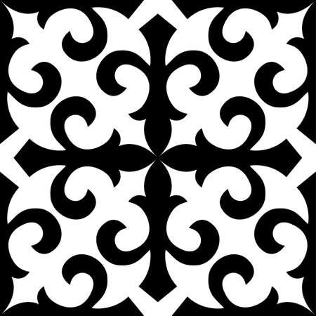 kazakhstan: Seamless.Kazakhstan traditional embroidry;Vektor.