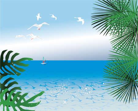 abstracte tropische achtergronden Stock Illustratie