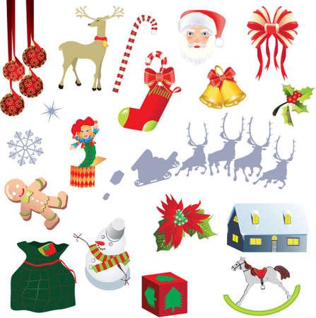 Elementen voor Kerst mis ontwerp, illustratie