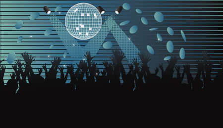Various audience silhouette Ilustracja