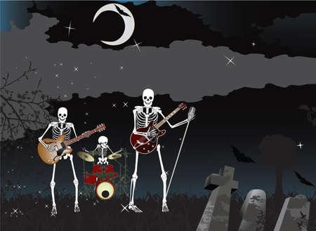 Musik Poster; Skeleton-Band  Standard-Bild - 7454369
