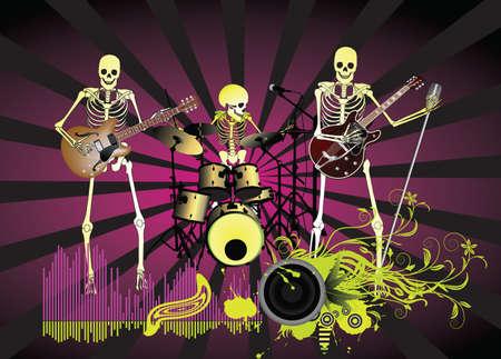 circundante: Music poster;Skeleton