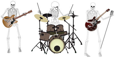 Skeleton Band  Stock Illustratie