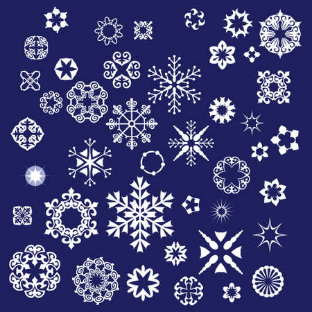 set of snowflakes background Stock Vector - 7462524