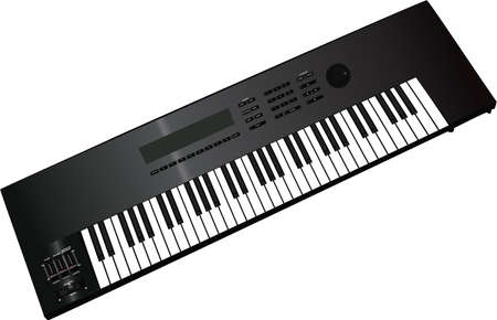 kunst: Electronic musical keyboard synthesizer